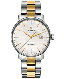 Rado Men's Swiss Automatic Coupole Classic Two-Tone Stainless Steel and Ceramos Bracelet Watch 41mm R22876032