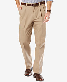 Dockers Men's Big & Tall Signature Classic Pleated Fit Khaki Stretch Pants D3