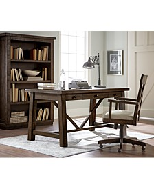 Ember Home Office 4-Pc. Set (Desk, Lateral File Cabinet, Desk Chair & Bookcase)