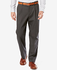 Dockers Men's Stretch Relaxed Pleated Fit Signature Khaki Pants  D5