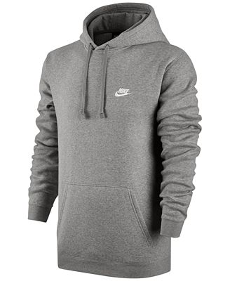 Nike Men's Pullover Fleece Hoodie - Hoodies & Sweatshirts - Men ...