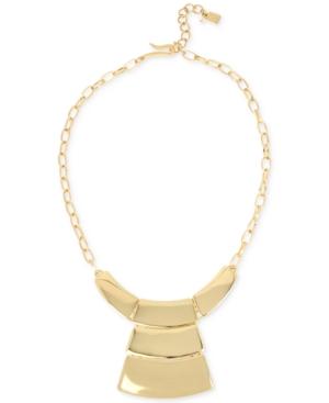 Robert Lee Morris Soho Gold-Tone Geometric Statement Necklace
