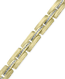 Men's Diamond Satin Link Bracelet (1/2 ct. t.w.) in 10k Gold