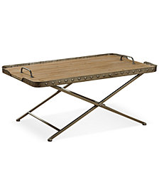 Venten Top Folding Coffee Table with Removable Tray Top, Quick Ship