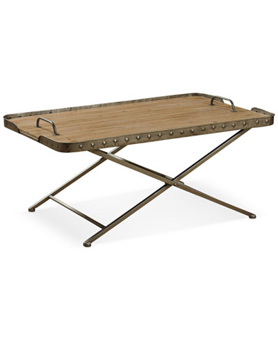 Venten Top Folding Coffee Table With Removable Tray Top Quick Ship Furniture Macy 39 S