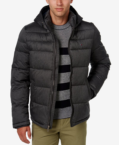 Tommy Hilfiger Men's Classic Hooded Puffer Jacket - Coats ...