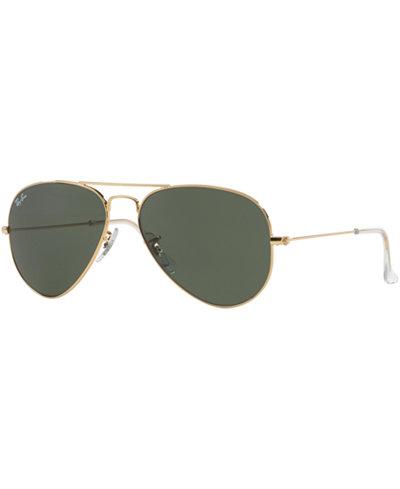 Ray-Ban Sunglasses, RB3025 55 AVIATOR