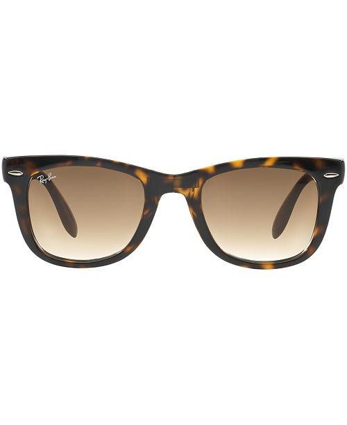 9b497777268ae ... spain ray ban. sunglasses rb4105 folding wayfarer. 16 reviews. 168.00.  main image