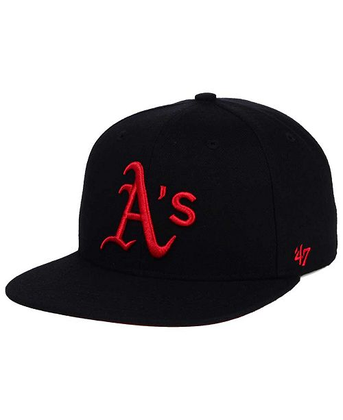 '47 Brand Oakland Athletics Black Red Shot Snapback Cap