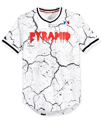 Black pyramid men 39 s graphic print logo jersey t shirts for Black pyramid t shirts for sale