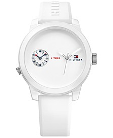 Men's Cool Sport White Silicone Strap Watch 42mm