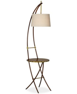 CLOSEOUT! Pacific Coast Crescent Floor Lamp with Tray Table ...