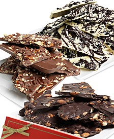 Belgian Chocolate Bark Trio Variety