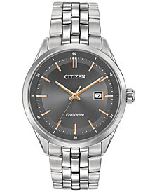 Citizen Men's Eco-Drive Stainless Steel Bracelet Watch 41mm BM7251-53H