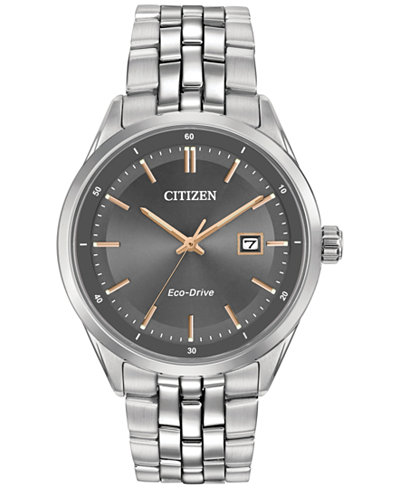 Citizen Men's Eco-Drive Stainless Steel Bracelet Watch 41mm BM7251-53H