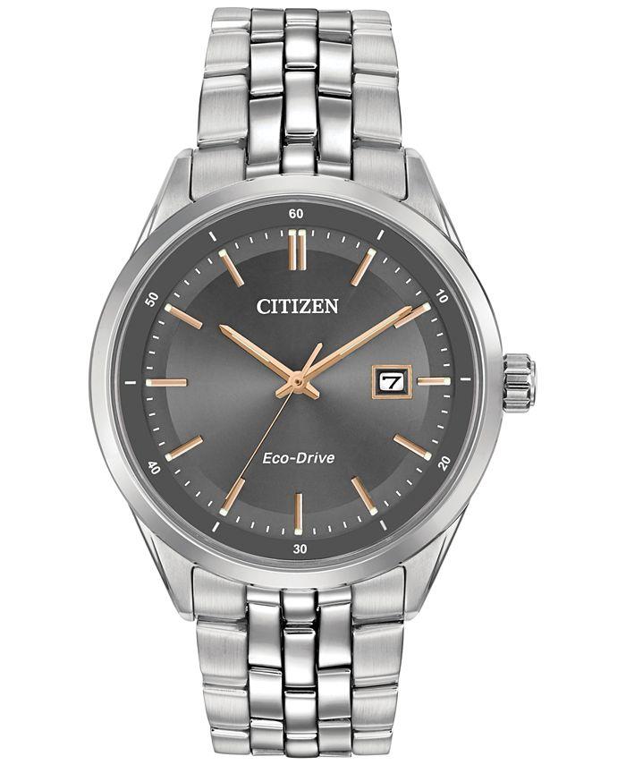 Citizen - Men's Eco-Drive Stainless Steel Bracelet Watch 41mm BM7251-53H