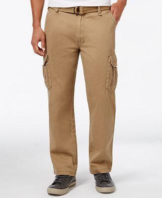 Univibe Men's Utility Twill Cargo Pants