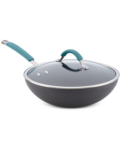 Rachael Ray Cucina Hard Anodized 11 Quot Stir Fry Pan With Lid
