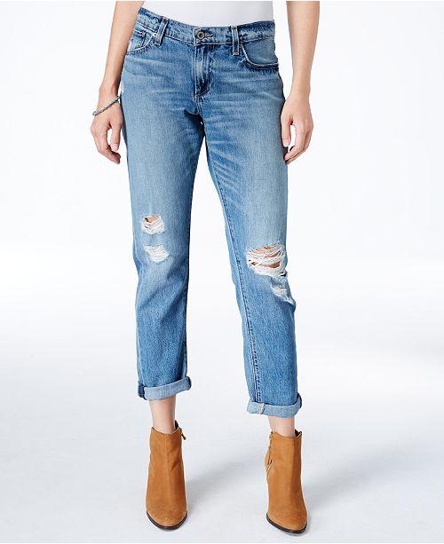 Lucky Brand Sienna Ripped Bixel Wash Boyfriend Jeans