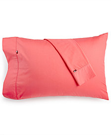 CLOSEOUT! Tommy Hilfiger Solid Core Pair of Standard Pillowcases