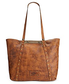 Distressed Leather Vintage Benvenuto Tote