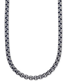 Antique-Look Link Chain Necklace in Gunmetal IP over Stainless Steel, Created for Macy's