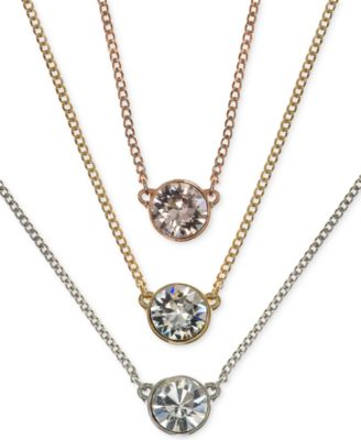 Givenchy 16 necklace rose gold tone crystal fireball pendant givenchy crystal pendant necklaces mozeypictures Gallery