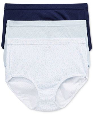 Jockey Elance Breathe 3-Pk. Cotton Briefs 1542