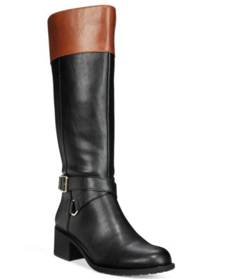 Style & Co Vedaa Wide-Calf Boots Created for Macys Womens Shoes