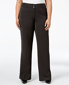 Alfani Plus & Petite Plus Size Curvy-Fit Slimming Bootcut Pants, Created for Macy's