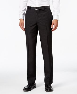 INC International Concepts Men's Classic-Fit Pinstripe Dress Pants ...