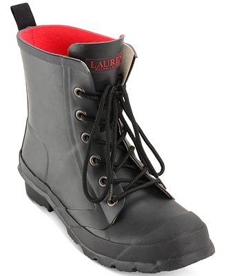 Lauren Ralph Lauren Mikenna Lace-Up Rain Boots - Boots - Shoes ...