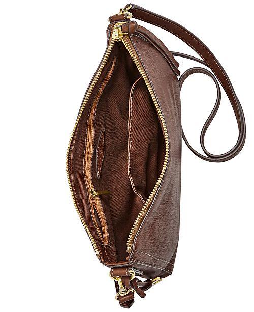 9b9ca64f7711 Fossil Emma East West Leather Crossbody & Reviews - Handbags ...