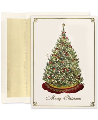 Cards Elegant Tree Set of 16 Boxed Greeting Cards and Envelopes