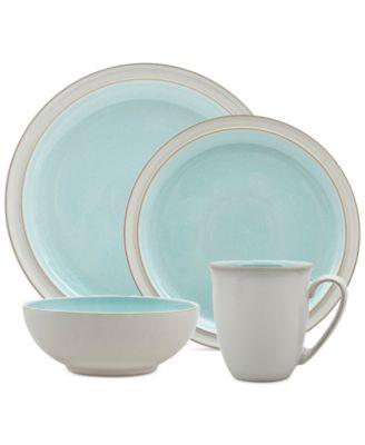 main image; main image ...  sc 1 st  Macy\u0027s & Denby 4-Pc. Azure Blends Dinnerware Set - Dinnerware - Dining ...