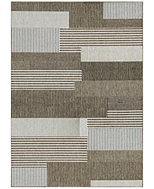 "Couristan Monaco Indoor/Outdoor Starboard Grey-Sand 5'10"" x 9'2"" Area Rug"
