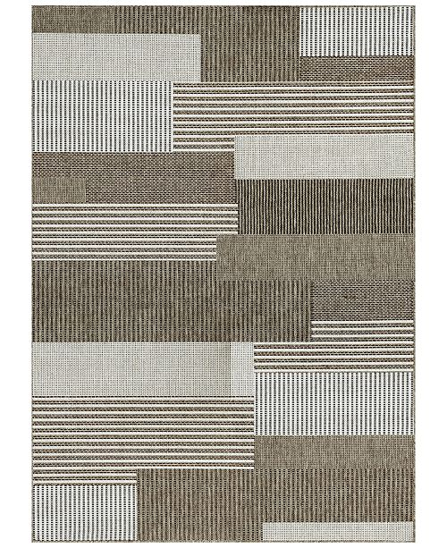 "Couristan Monaco Indoor/Outdoor Starboard Grey-Sand 3'9"" x 5'5"" Area Rug"