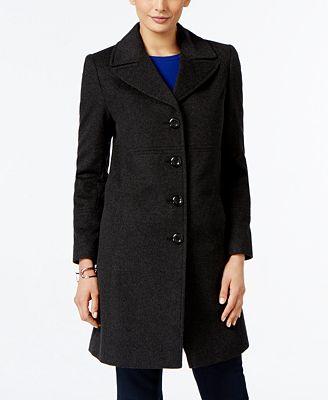 Larry Levine Wool-Blend Walker Coat