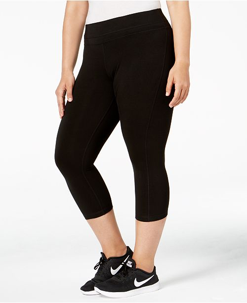 f8b1b241d459b Ideology Plus Size Cropped Leggings, Created for Macy's & Reviews ...