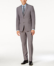 Perry Ellis Portfolio Men's Slim-Fit Gray Sharkskin Suit
