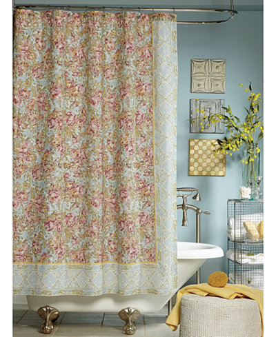 Jessica simpson marina floral print shower curtain for New york style curtains