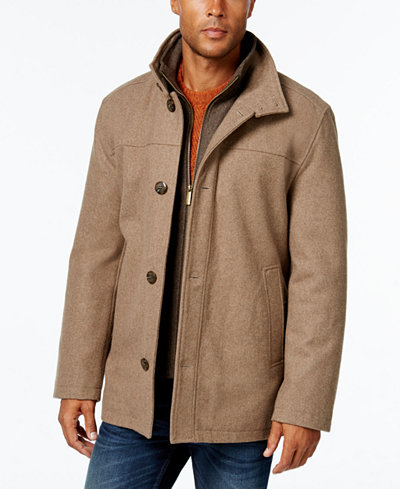 London Fog Men S Wool Blend Layered Car Coat Coats Jackets