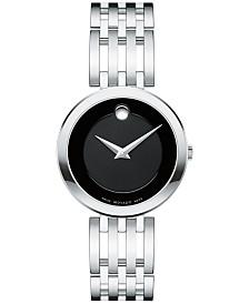 Movado Women's Swiss Esperanza Stainless Steel Bracelet Watch 28mm 0607051