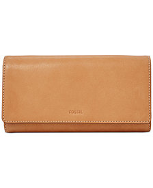 Fossil Emma RFID Leather Flap Leather Wallet