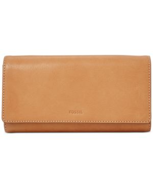 EMMA RFID LEATHER FLAP LEATHER WALLET