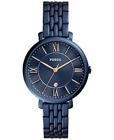 Women's Jacqueline Blue Stainless Steel Bracelet Watch 36mm ES4094