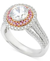 Marchesa Certified Diamond Engagement Ring (2-1/2 ct. t.w.) in 18k White Gold and Rose Gold