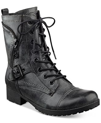 G By Guess Brylee Lace Up Combat Booties Boots Shoes