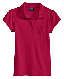 Nautica School Uniform Lace-Trim Polo, Big Girls