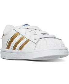 adidas Toddler Girls' Superstar Casual Sneakers from Finish Line